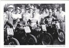 "*Postcard-""The 100-Mile Race"", 1946 /Laconia Motorcycle Week/ NH (#17)"