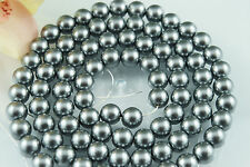 84pcs Beads-10mm Dark Grey Color Imitation Acrylic Loose Round Pearl Sparcer