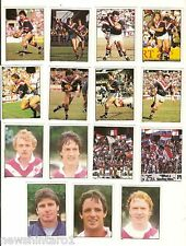 1983 RUGBY LEAGUE STICKERS - EASTERN SUBURBS  ROOSTERS