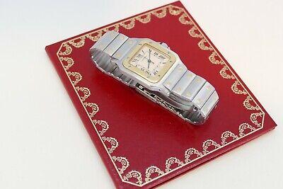 Vintage Cartier Santos Herren Quartzuhr bicolor