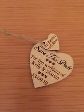 Handmade Rustic Wooded Heart Save The Date Wedding Anniversary Party