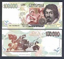 100.000 Lire Caravaggio 2° Tipo Lettera E  FDS