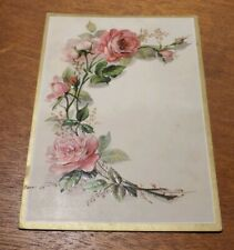 Antique Adv Trade Card pre 1900s C.D. Kenny Tea Coffee Dealers embossed Flowers