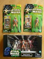 LOT HASBRO STAR WARS  : 5 Pilotes de l'Alliance Rebelle : PORKINS + LUKE + .....