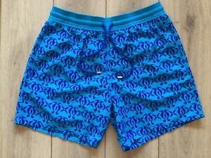 "NEW original VILEBREQUIN Moorea ""Flocked Hippocampes"" swimming trunks size XL"