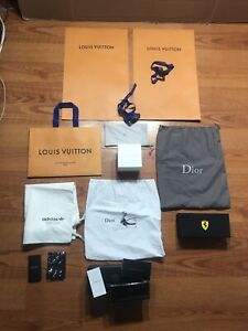 Lot Of LV Envelopes, Dior Dust Bags, Mix Of Designer SEE PICTURES