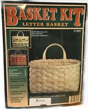 Complete Basket Letter Kit, Weaving, Supplies, Reed, Pattern