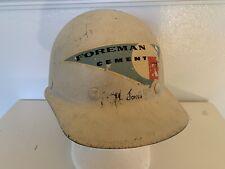 Vintage Foreman Cement Supergard Fiberglass Construction Helmet Hard Hat MCM