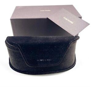 New Auth Tom Ford Case Eyeglasses Sunglasses Black Velour Logo Large