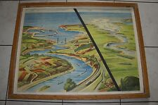 ANCIENNE AFFICHE SCOLAIRE ROSSIGNOL GEOGRAPHIE  31 32
