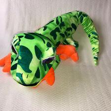 "Lizard Gecko Reptile 36"" Plush Large Stuffed Animal Green Orange The Toy Factory"