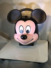 Vintage Aladdin Walt Disney Mickey Mouse Head Lunch Box With Sipper Thermos