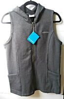Columbia Black Gray Hooded Vest Unisex Size Large (L)