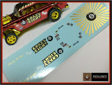1/64 '55 Chevy Crazy Eight Gasser' CUSTOM Gold Metallic Decal SCR-0012M