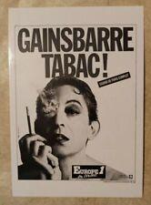 carte postale Serge Gainsbourg Tabac Europe 1