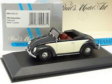 Minichamps 1/43 - VW Coccinelle  Hebmüller Cabriolet Noire Crème
