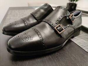 Cole Haan Men's Jefferson Grand Double Monk Strap Oxford Black 10.5 M EUC