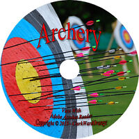 44 RARE Books on CD Archery Bow and Arrow Longbow Shortbow Hunting Archer How to