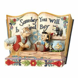 Disney Traditions Someday You Will Be a Real Boy Pinocchio Storybook Figurine
