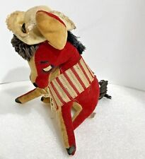 Dream Pets R Dakin & Co Donkey Stuffed Animal Toy Made In Japan Vintage Red 6 in