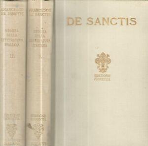 Storia della letteratura italiana. . Francesco De Sanctis. 1935. .