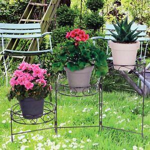 3 Tier Metal Plant Stand Garden Flowers Greenery Rustproof Patio Display Decor