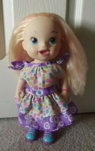 2014 Hasbro Baby Alive Doll WITH Blonde Hair & Greenish Blue Eyes