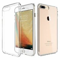 For iPhone 7/ 7 Plus Ultra Slim Crystal Clear Rubber TPU Soft Back Case Cover