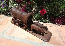 "H. S. ""Andy Anderson"" (1893-1963) COVERED WESTERN WAGON Woodcarving Sculpture"