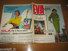 EVA=1959/12=RIVISTA MAGAZINE MODA DONNA WOMAN CUCINA ARREDAMENTO=
