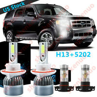 Super White LED Headlight Bulb Conversion Kit C6 For Toyota FJ Cruiser 2007-2014