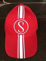 Apple Krate Stingray  Schwinn Hat  Red w/white Baseball cap with metal tag s-m