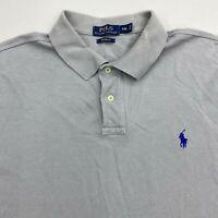 Polo Ralph Lauren Polo Shirt Men's 2XL XXL Short Sleeve Gray Custom Fit Cotton