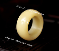 20~23MM Fine Chinese Vintage Natural Yak Bone Hand Grinding Fashion Finger Ring