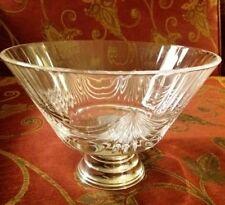 Elegante alzata centrotavola in argento 800 e cristallo molato