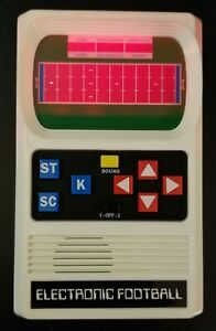 FOOTBALL Handheld Electronic Game 70's Retro Mattel Classic Tested Sounds Lights