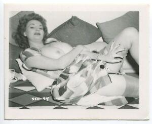 CHERRIE KNIGHT Burlesque Nude Star 1950 Original  Vintage Pinup Photo  B4791