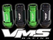 VMS RACING 20PC 48MM PREMIUM EXTENDED WHEEL LUG NUTS 12X1.5 GREEN BLACK MIX GK2