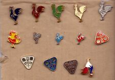 pin Rooster Hen Chicken Roosters - SET OF 14 DIFFERENT PINS badge