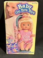 Vintage 1995 Kenner Baby GO BYE BYE Doll & Carrier #66650 BRAND NEW SEALED