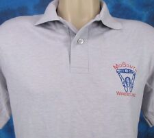 Vintage 80s Mid South Wrestling Polo T-Shirt SMALL wcw wwf uwf buttery soft nos