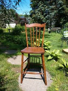 A Late 19th c. Aesthetic Movement Highchair Childs Chair FAUX BAMBOO Mahogany