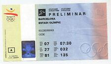 Orig.ticket Juegos Olímpicos Barcelona 1992-Atletismo 07.08. / 6 final `s! Raro