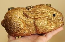 Timmy Woods baby bunny rabbit Crossbody Shoulder Bag Swarovski Crystal gold