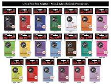 PRO MATTE ULTRA PRO MTG DECK PROTECTORS 600 Mix and Match 20 Colors to choose