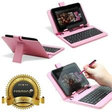 """Hot PU Leather Micro USB Keyboard Case With Buttons Stand Cover For 7"""" Tablet"""