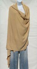 100% Cashmere ShawlThrow Oversized HandLoomed 4 Ply Mini Herringbone Camel