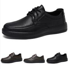 Men Low Top Leisure Leather Shoes Flats Work Office Business Oxfords Formal 44 L