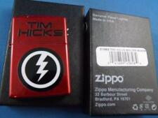 TOM HICKS BOLTED ZIPPO LIGHTER CANDY APPLE RED COUNTRY BAND FAN SOUVENIR LIGHTER