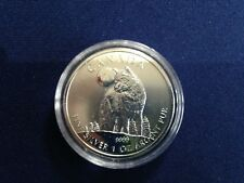 2011 Canada $5.00 Timber Wolf Maple Leaf BU One Ounce .9999  E6106